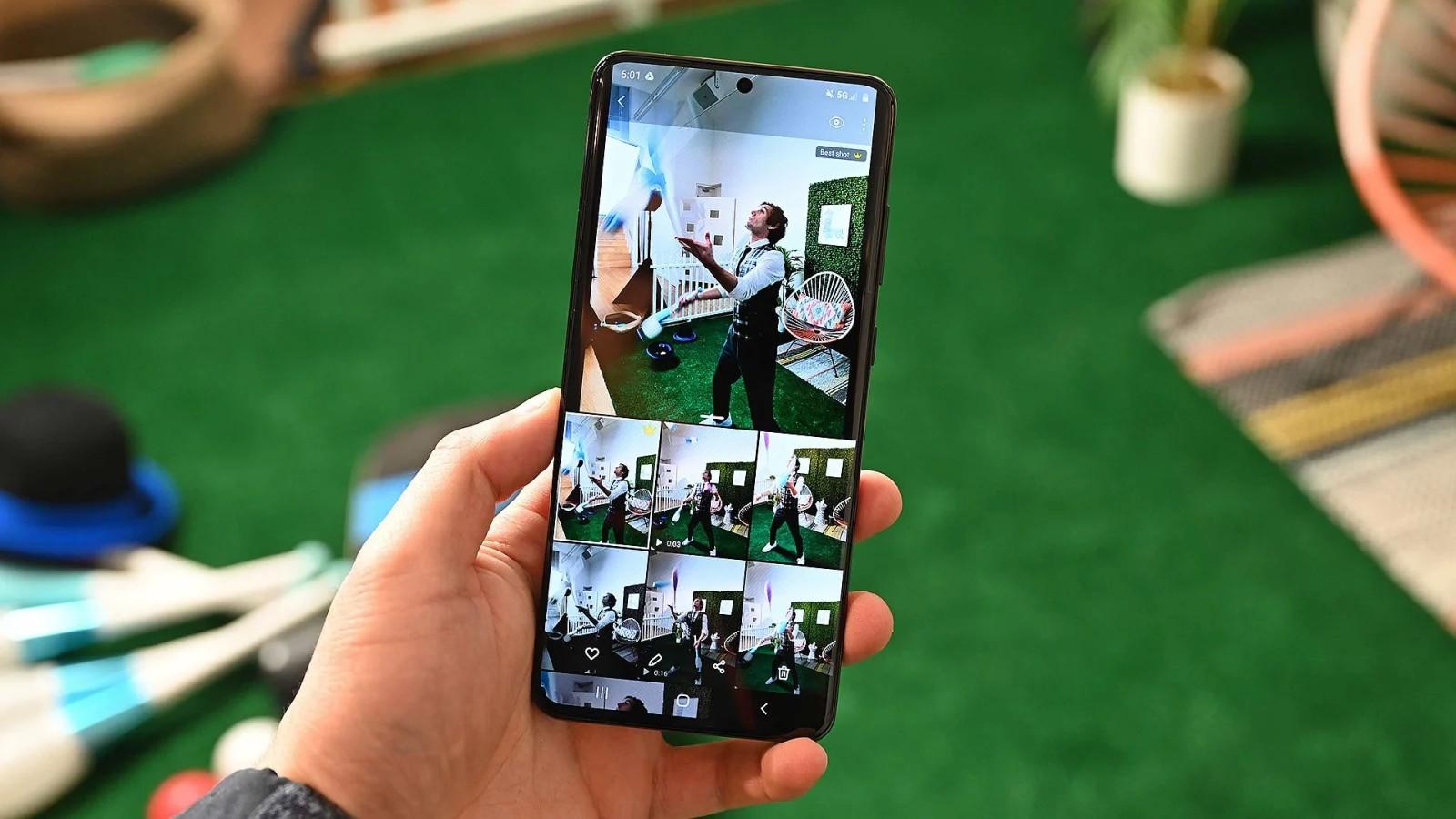 Single Take trên Samsung Galaxy S20