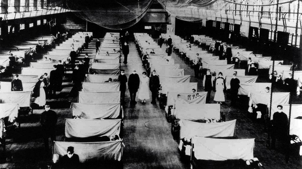 Trại cách ly người bệnh cúm Tây Ban Nha