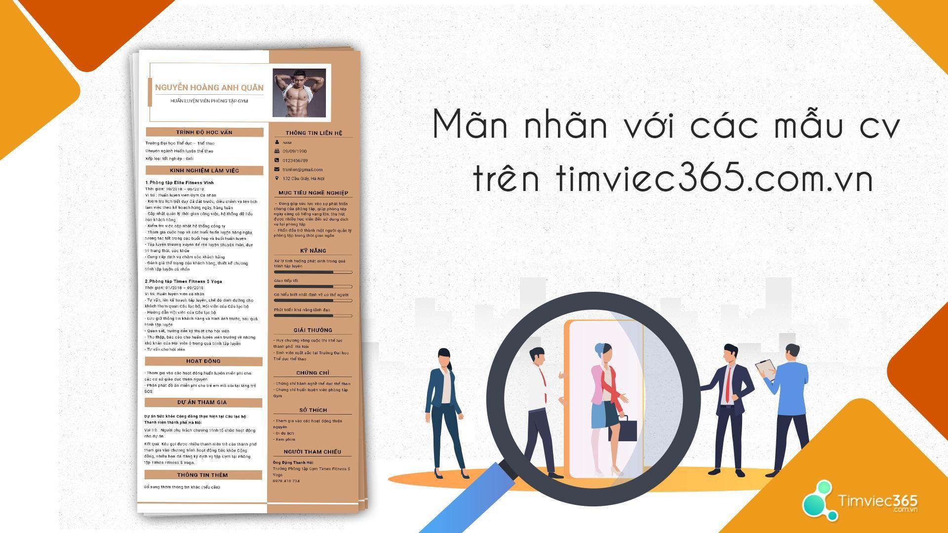Website timviec365.com.vn – Nơi gặp gỡ của ứng viên và nhà tuyển dụng