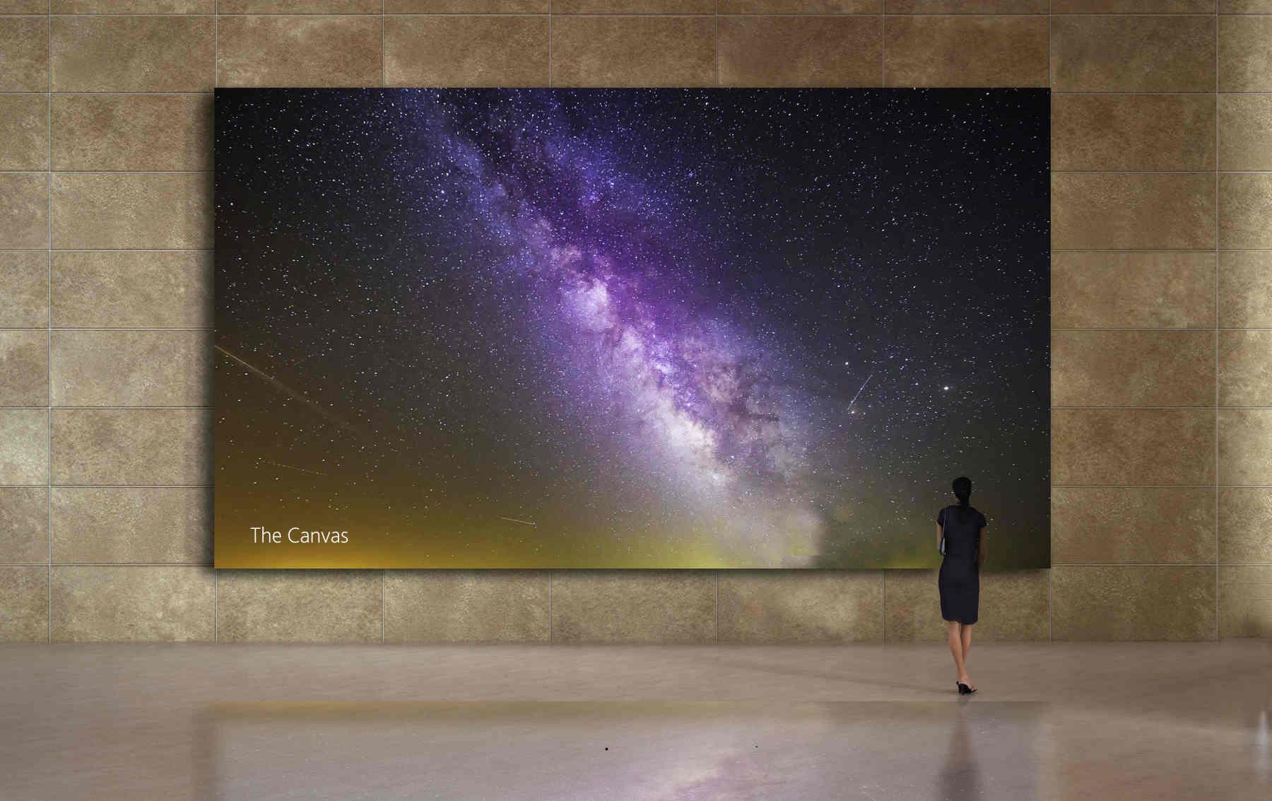 Sharp công bố màn hình microLED The Canvas: đỉnh sáng 2.500 nit, độ phân giải 16K, 100% DCI-P3
