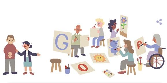 Google Doodle kỷ niệm 115 năm ngày sinh của bác sĩ tâm thần Nise da Silveira
