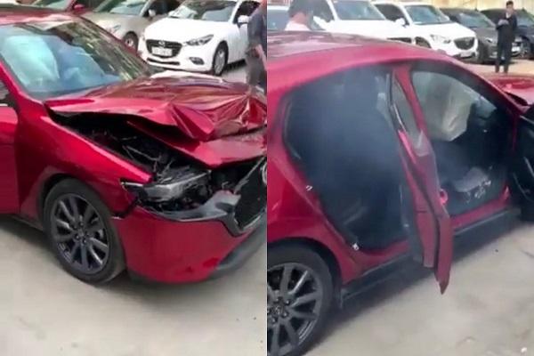 Kỹ thuật viên Mazda nhận cái kết đắng sau màn thử nghiệm tính năng phanh khẩn cấp