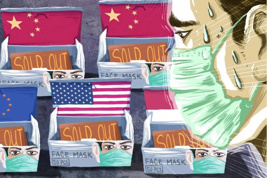 Sự thiếu hụt của Trung Quốc khiến cả thế giới lao vào 'cuộc chiến' sản xuất khẩu trang