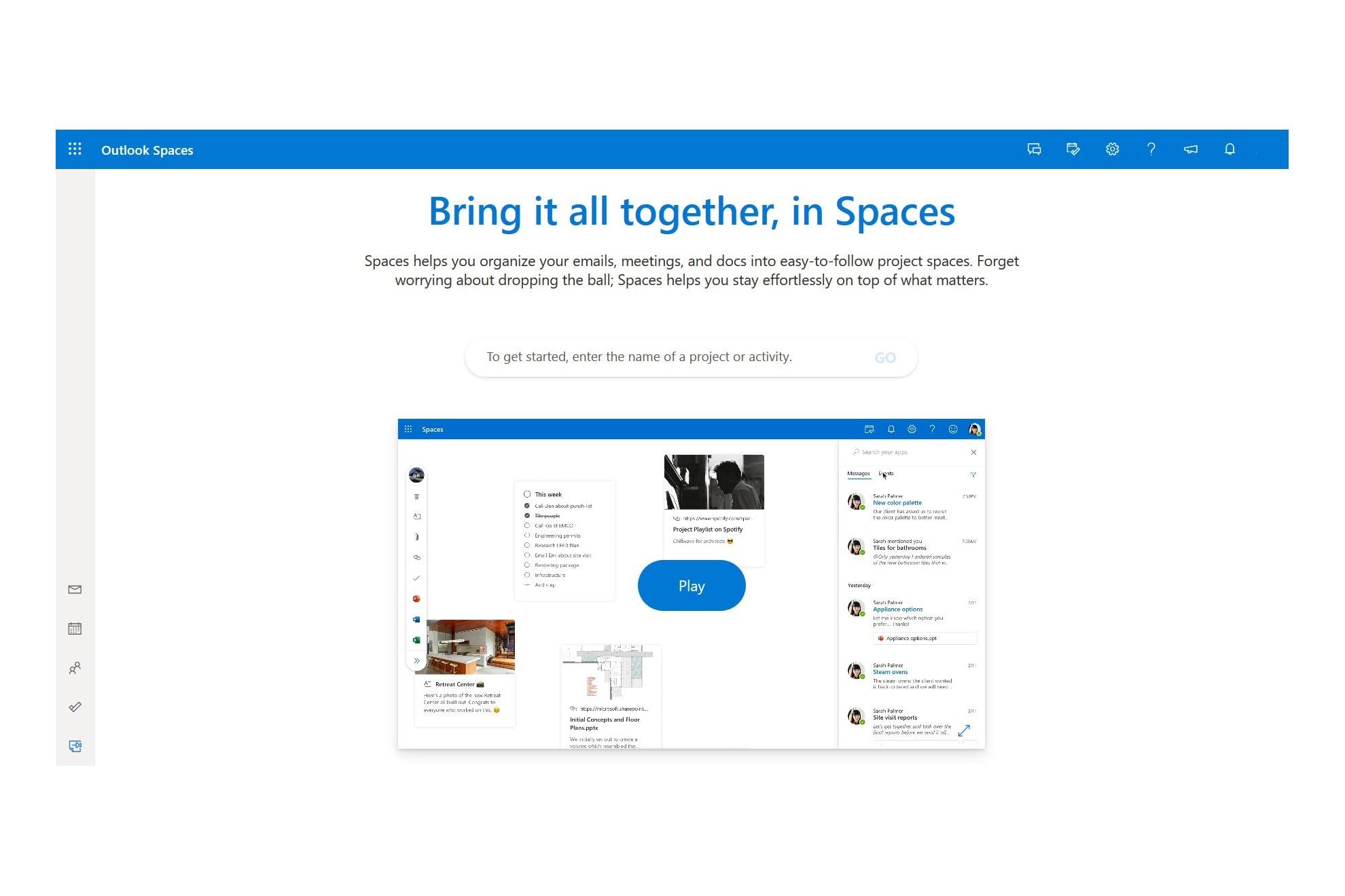 Rò rỉ video tính năng Spaces mới của Outlook, mang đến công cụ quản lý công việc mạnh mẽ