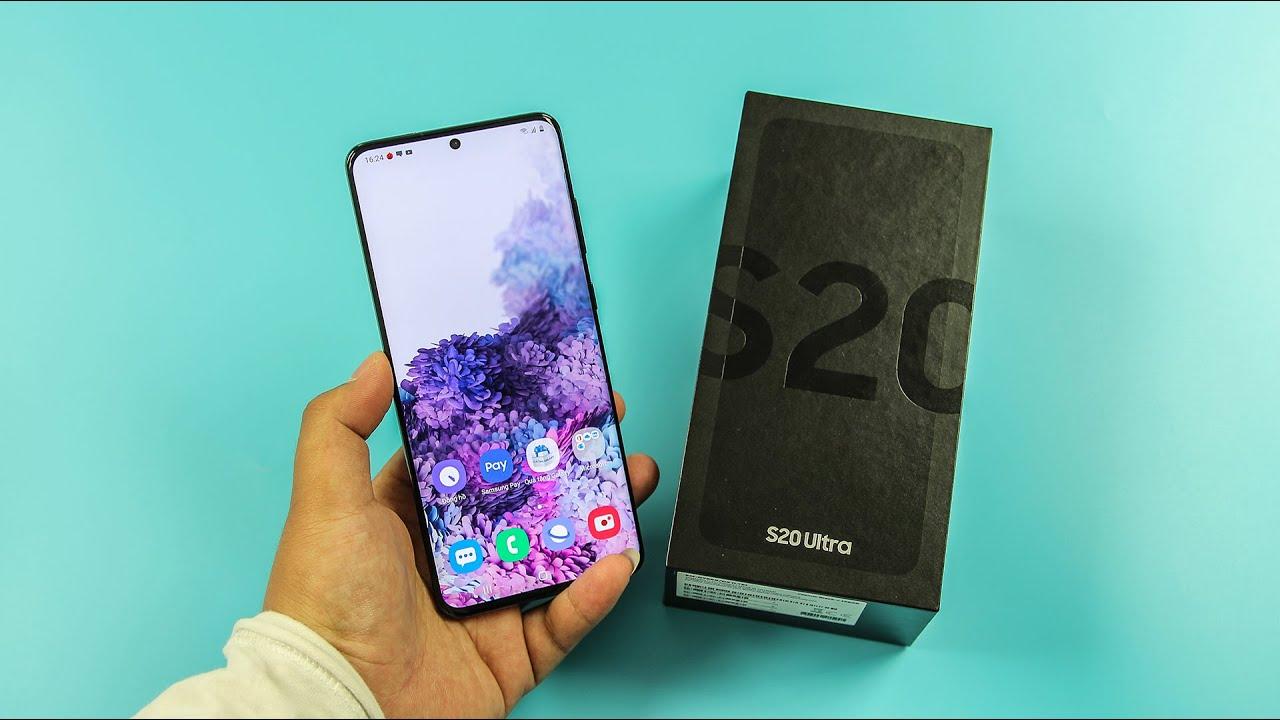 Mở hộp Galaxy S20 Ultra BẢN THƯƠNG MẠI - RAM 16GB
