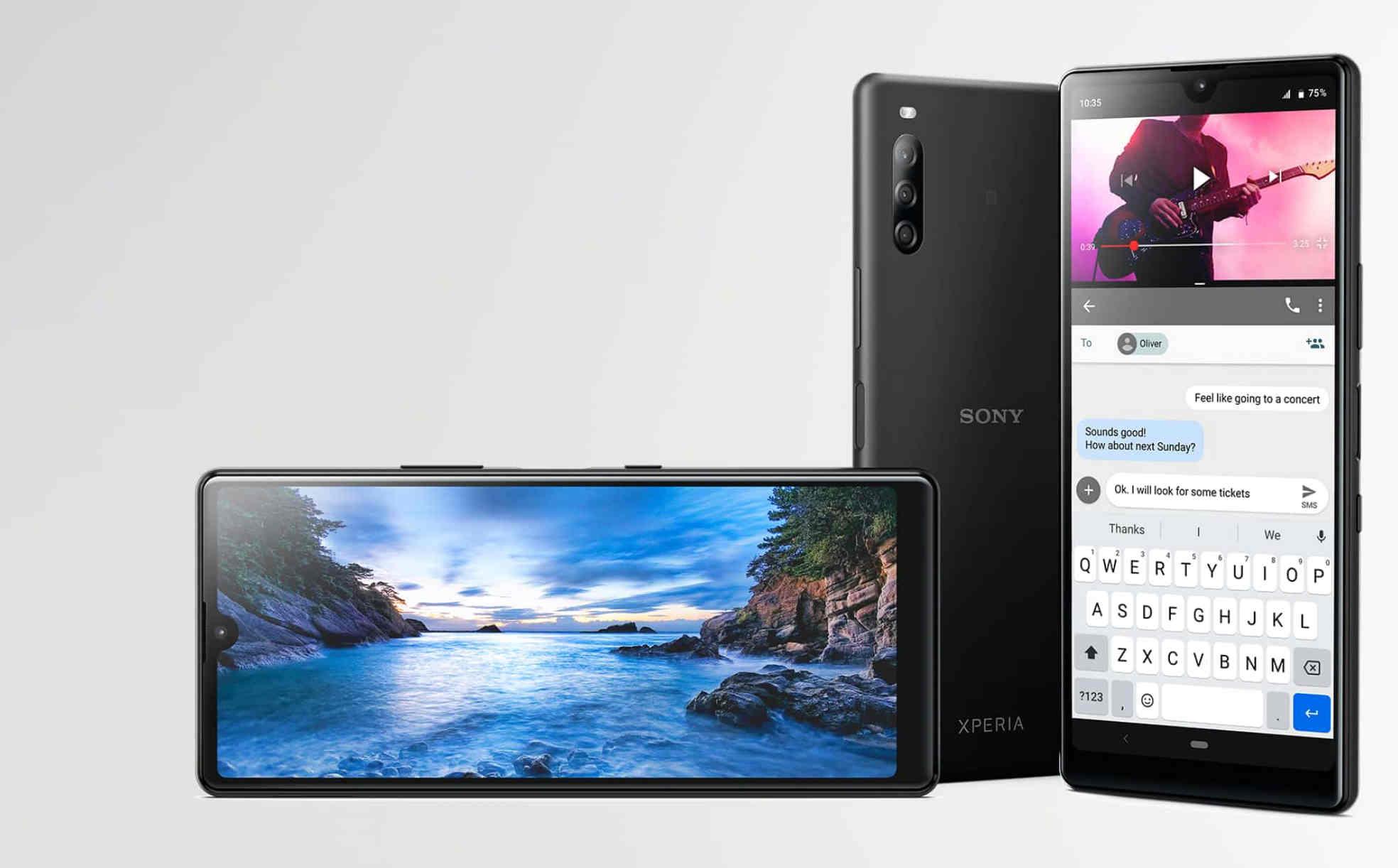 """Sony ra mắt điện thoại đầu tiên có màn hình """"giọt nước"""", cấu hình thua Vsmart Joy 3"""