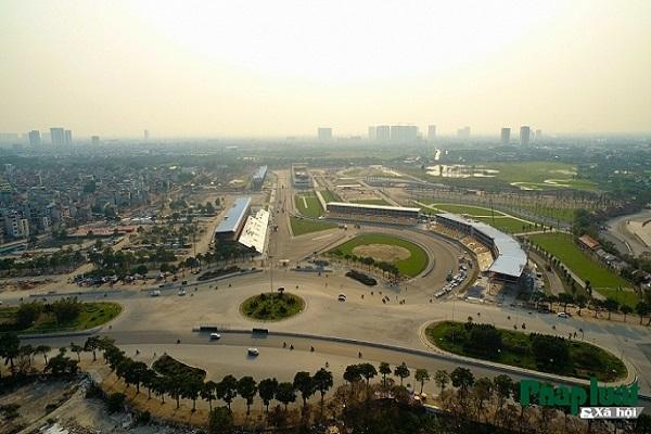 Toàn cảnh đường đua F1 Mỹ Đình đang gấp rút hoàn thành
