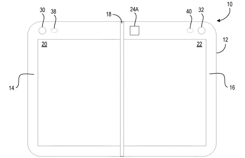 Microsoft đăng ký bằng sáng chế cho một thiết bị giống Surface Duo nhưng có nhiều camera