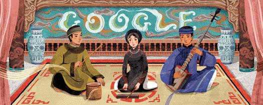 Google Doodle vinh danh ngày giỗ tổ nghề Ca trù Việt Nam