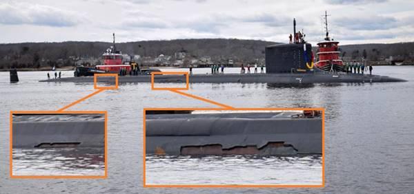 """Tàu ngầm hạt nhân """"xịn xò"""" của Hoa Kỳ cũng không thể trách khỏi bong tróc"""