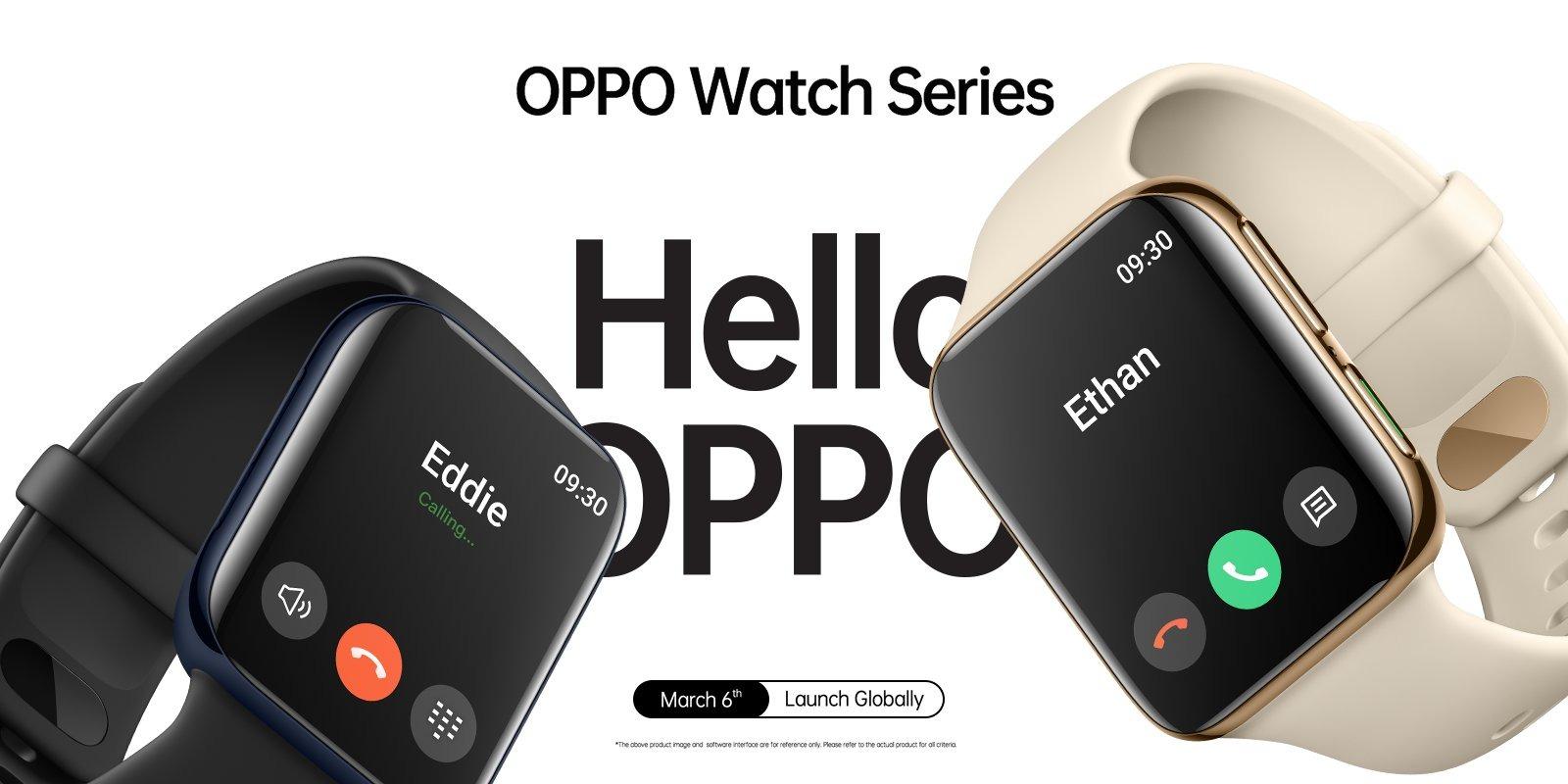 Chiếc smartwatch mới của Oppo trông khá giống với Apple Watch, sẽ ra mắt vào ngày 06/03 tới