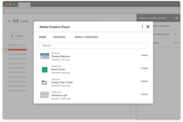 Gmail giờ đã có thể chia sẻ ảnh từ Photoshop và Lightroom thông qua công cụ tích hợp