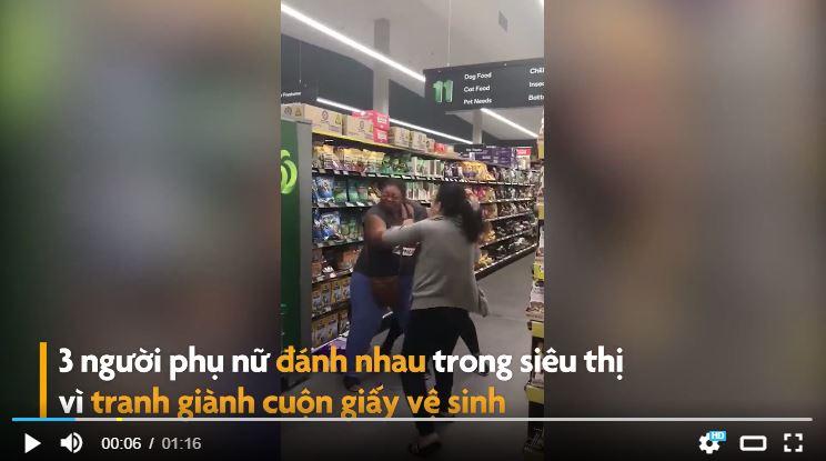 Đánh nhau trong siêu thị để tranh mua giấy vệ sinh
