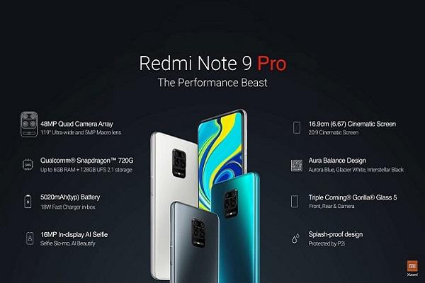 Redmi Note 9 Pro ra mắt: màn 6.67 inch, Snapdragon 720G, pin 5.020 mAh, giá từ 4 triệu đồng