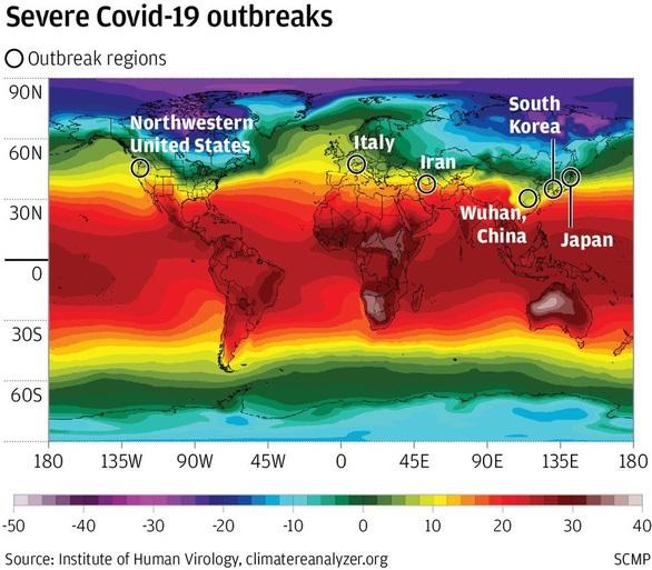 Phát hiện 'hành lang dịch COVID-19' ở bắc bán cầu