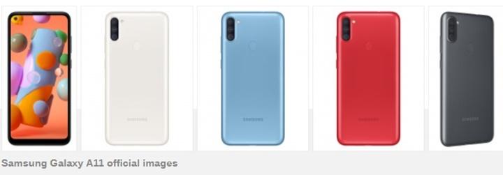 Samsung Galaxy A11 lặng lẽ ra mắt với màn hình đục lỗ