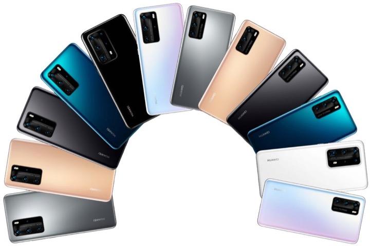 Lộ toàn bộ tùy chọn màu sắc của Huawei P40