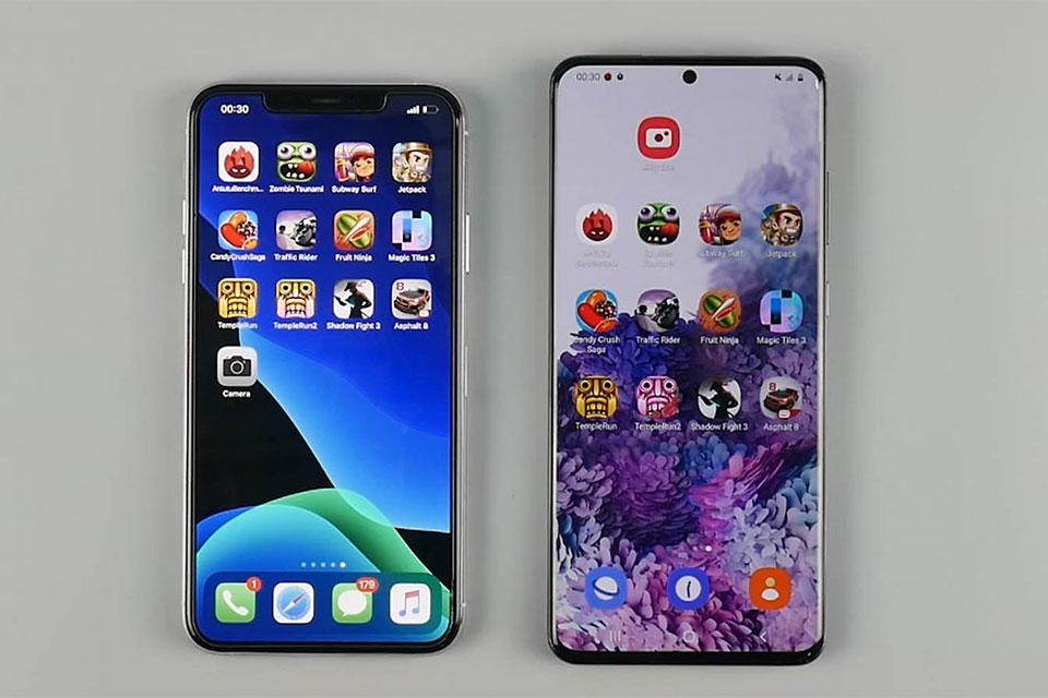 """Đọ hiệu năng và độ mượt chơi game: Galaxy S20 Ultra có đủ sức phế ngôi """"vua hiệu năng"""" của iPhone 11 Pro Max?"""