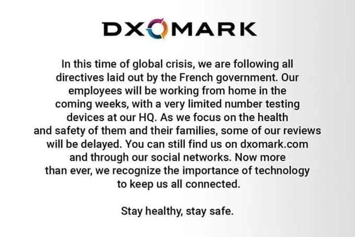 DxOMark trì hoãn nhiều hoạt động vì Covid-19