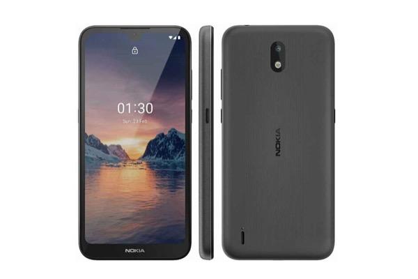 Rò rỉ Nokia 1.3 giá rẻ với viền màn hình mỏng, nút Google Assistant