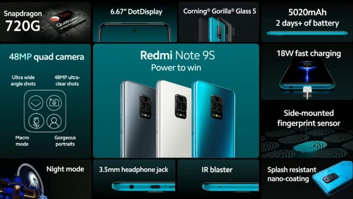 Redmi Note 9S ra mắt ở Việt Nam: Snapdragon 720G, pin 5.020 mAh, giá 5,49 triệu đồng, bán từ 27/3