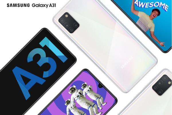 Samsung ra mắt Galaxy A31: 4 camera, pin 5.000 mAh sạc nhanh 15W