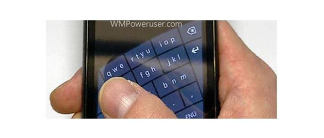 Microsoft thử nghiệm bàn phím cảm ứng cong trên Windows Phone