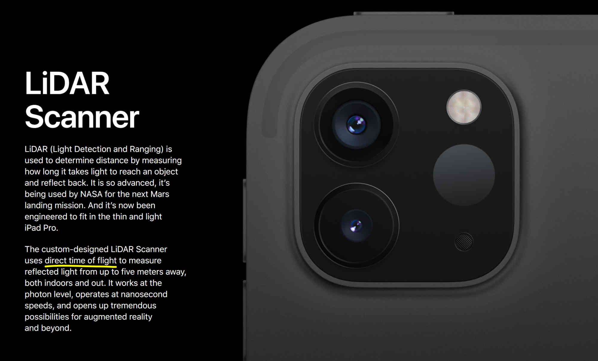 LiDAR Scanner trên iPad Pro thực chất là cảm biến 3D ToF giống flagship Android
