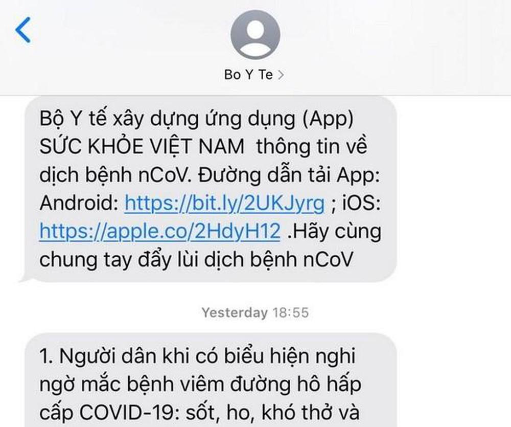 Chính phủ gửi tin nhắn tới toàn dân bằng cách nào?