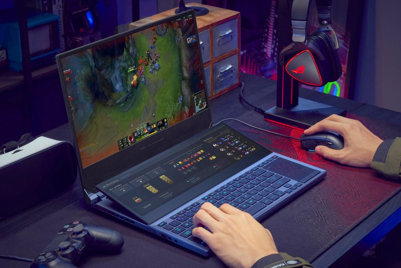 """Asus ra mắt Zephyrus Duo 15: Laptop gaming 2 màn hình cực dị, tần số quét 300Hz, cấu hình """"bay nóc"""""""