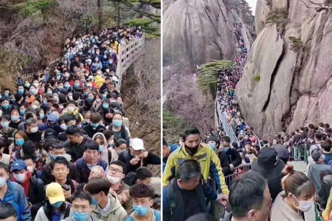 Hàng nghìn người Trung Quốc đổ xô đi chơi cuối tuần sau nhiều ngày cách ly vì Covid-19