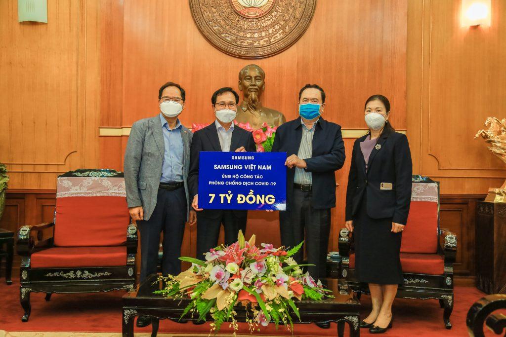Samsung Việt Nam ủng hộ 10 tỷ đồng để chống dịch Covid-19