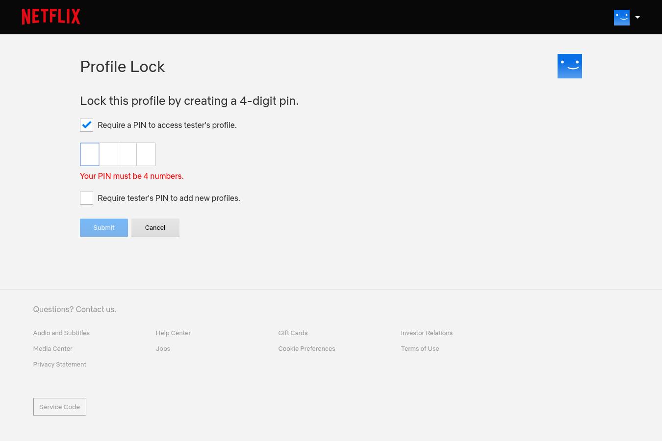 Netflix cho phép đặt mã PIN cho profile, bố mẹ có thể