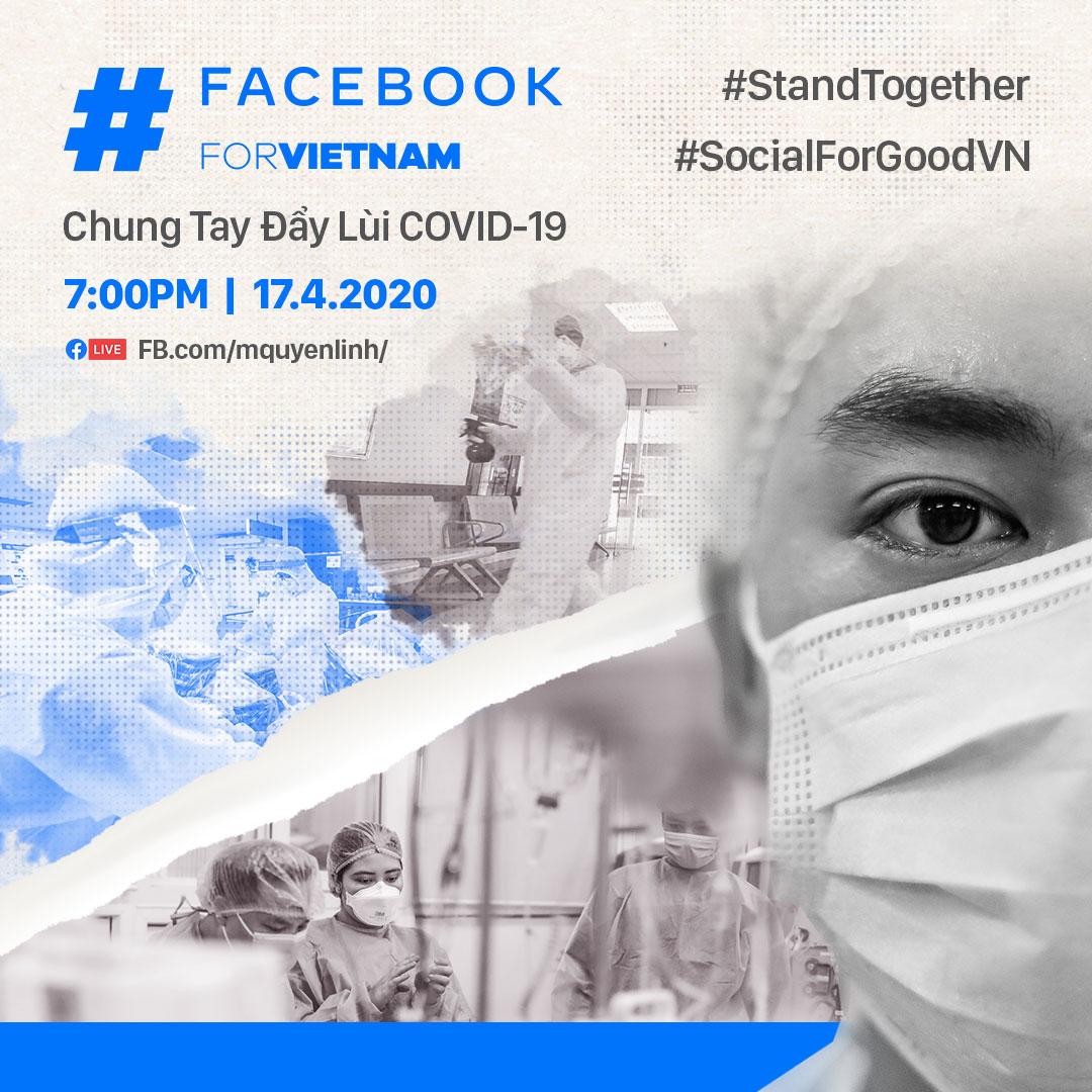 Facebook cùng Hội Chữ thập đỏ và hơn 60 nghệ sĩ Việt Nam ra mắt chương trình Livestream chung tay đẩy lùi Covid-19
