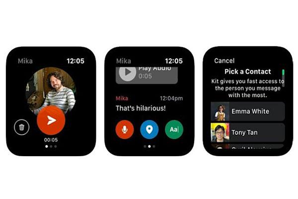 Facebook ra mắt ứng dụng trò chuyện với bạn thân cho Apple Watch