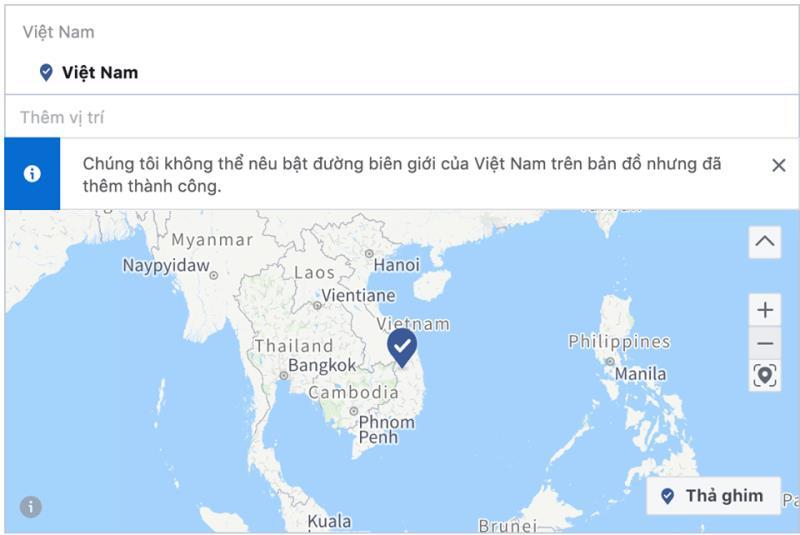 Facebook xin lỗi rồi xoá luôn đảo Hoàng Sa, Trường Sa khỏi bản đồ Việt Nam