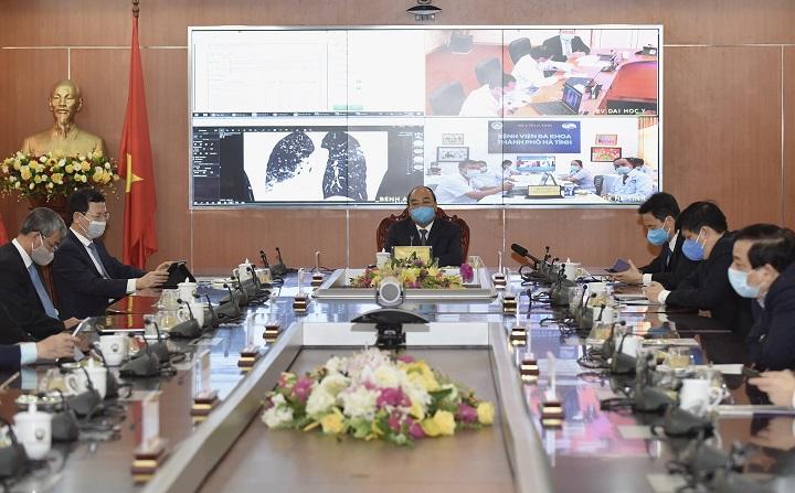 Thủ tướng dự khai trương 2 sản phẩm công nghệ Việt Nam giúp phòng chống COVID-19