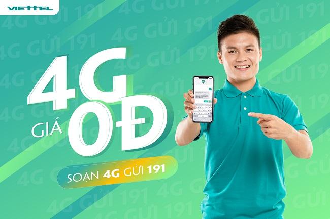 """Viettel mở chương trình """"4G 0 đồng"""", ưu đãi dùng 4G miễn phí cho khách hàng"""