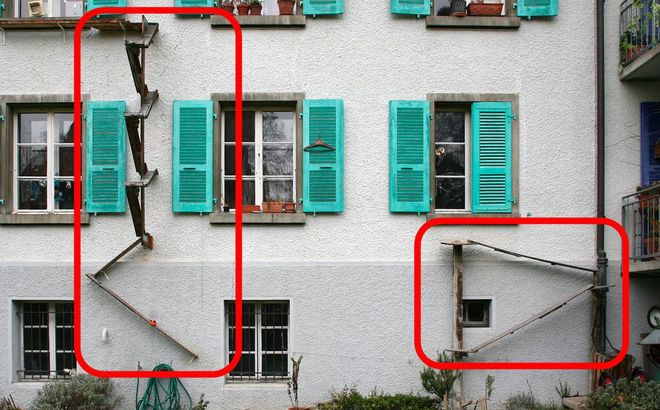 Bí ẩn thú vị phía sau những chiếc thang được lắp ở khắp nơi tại thủ đô Thụy Sĩ