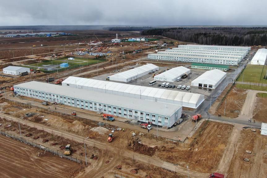Cận cảnh bệnh viện dã chiến chống Covid-19 800 giường, xây trong hơn 1 tháng tại Nga