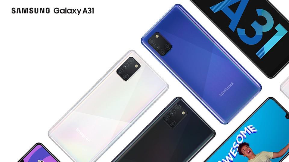 Samsung Galaxy A31 lên kệ ở Việt Nam: 4 camera sau, pin 5000 mAh, giá 6,49 triệu đồng