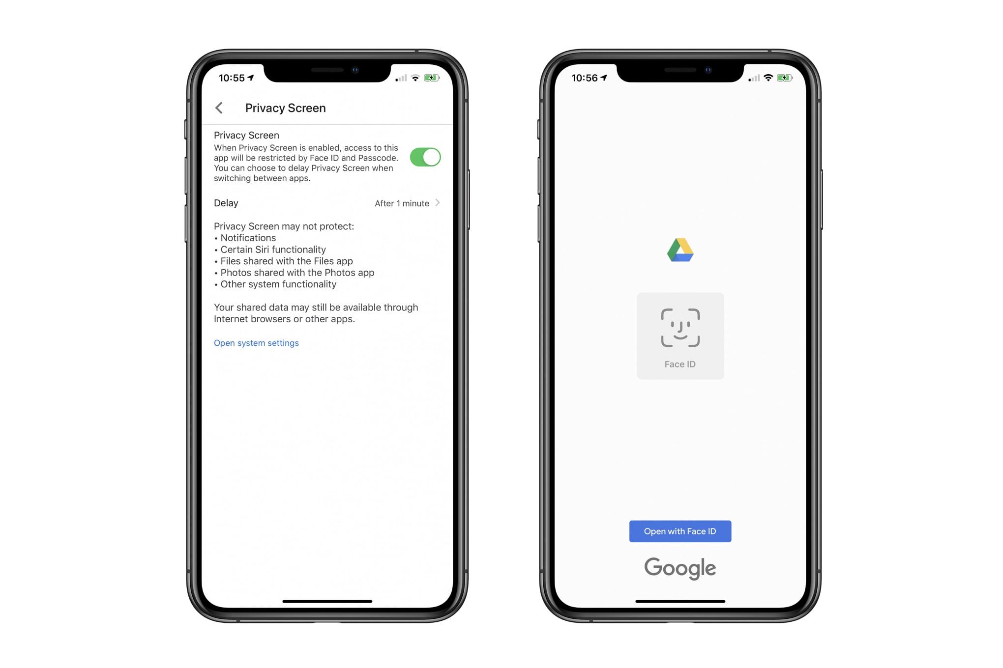 Đã có thể khoá ứng dụng Google Drive bằng Face ID/Touch ID trên iPhone, iPad