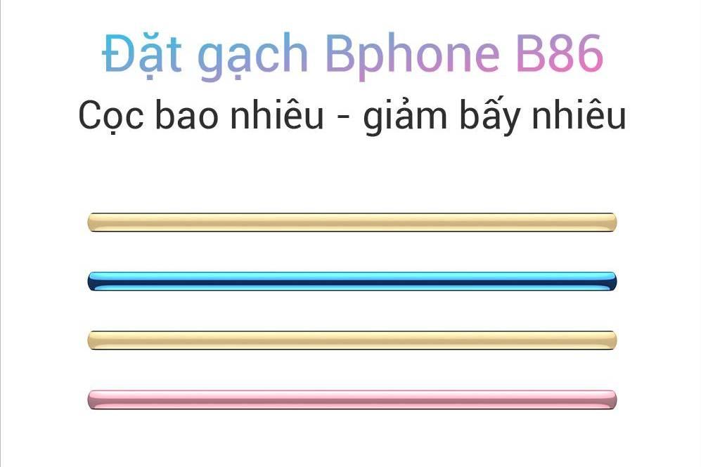 """Bphone B86 nhận đặt gạch """"cọc bao nhiêu - giảm bấy nhiêu"""""""