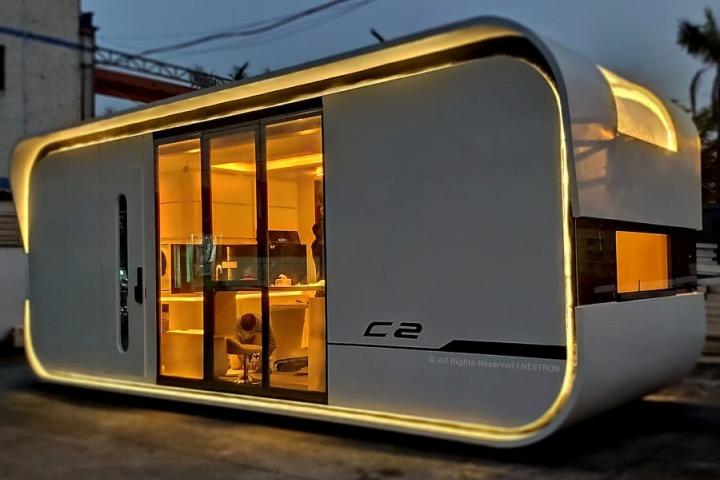 Bên trong ngôi nhà thông minh hình phi thuyền 1,2 tỷ đồng đủ chỗ ngủ cho 4 người