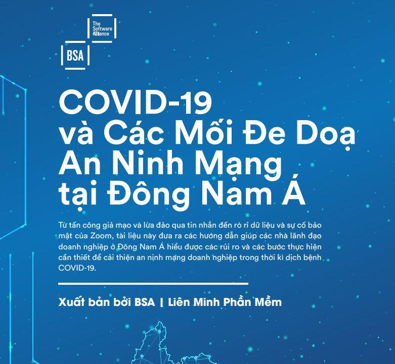 Liên minh phần mềm BSA phát hành E-book miễn phí về an minh mạng trong giai đoạn Covid-19