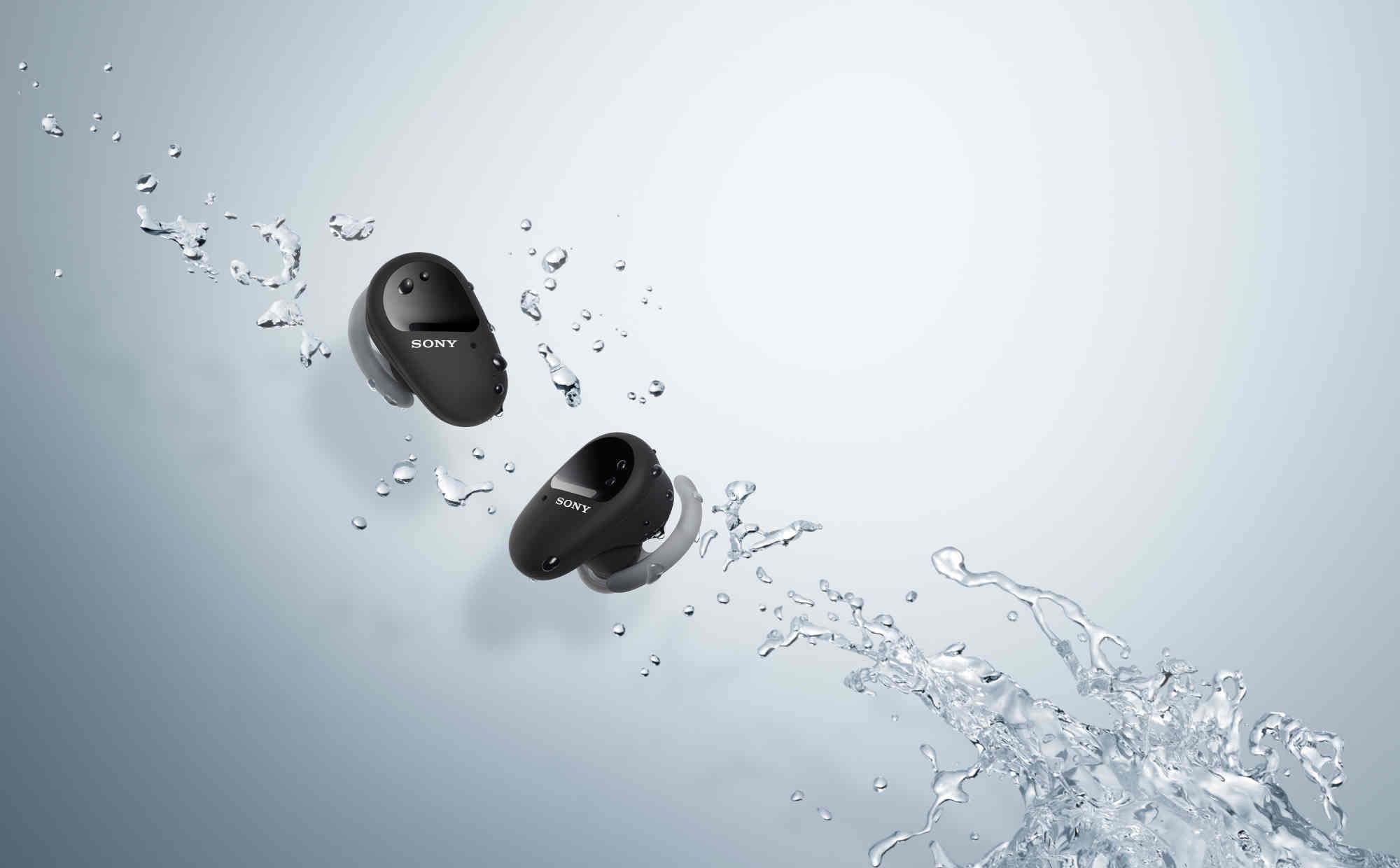 Sony ra mắt tai nghe không dây WF-SP800N: kháng nước IP55, pin 18 tiếng, giá 200 USD