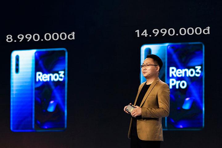 Oppo Reno3 và Reno3 Pro có giá 8,99 và 14,99 triệu đồng ở Việt Nam
