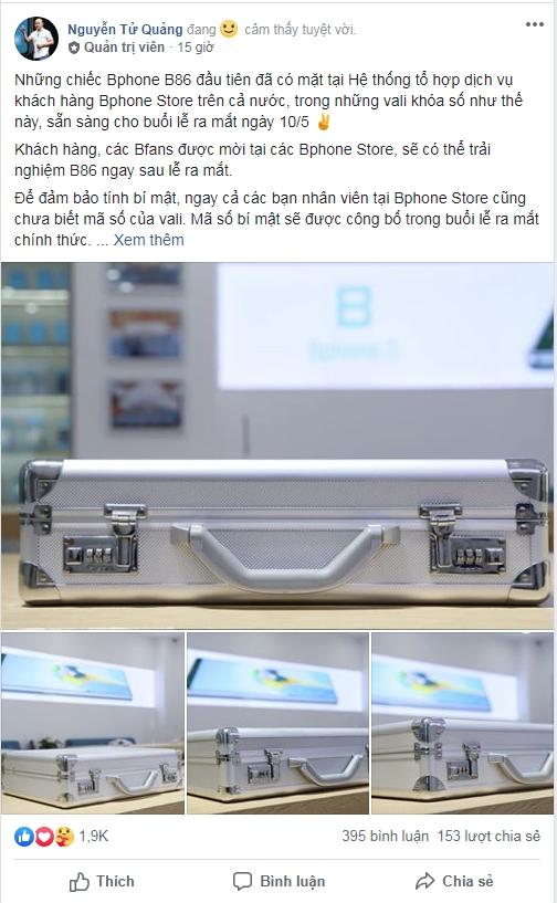 Tường thuật trực tiếp lễ ra mắt Bphone B86 – smartphone không phím bấm đầu tiên