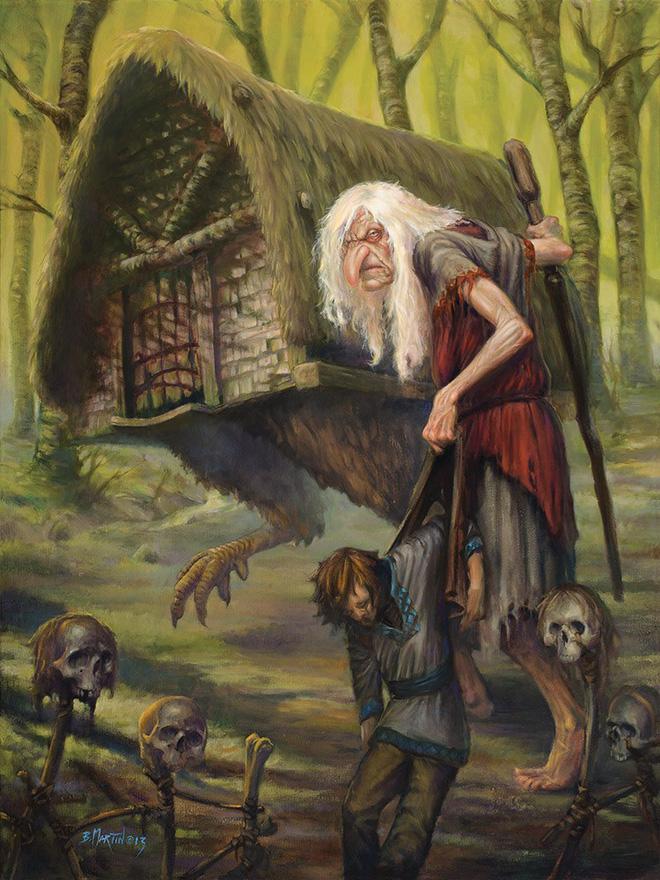 mụ phù thủy chuyên ăn thịt trẻ con Baba Yaga