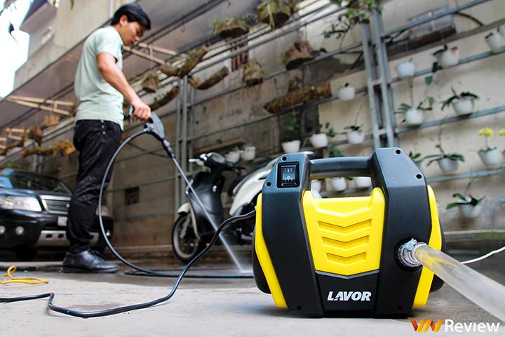 Trải nghiệm máy phun áp lực nước Lavor Hero105AC: Nhỏ gọn đa dụng, đầu phun 180 độ thuận tiện